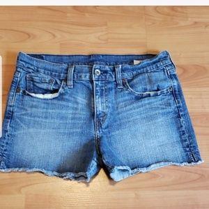 Levi's original cut-off jean shorts mid-rise